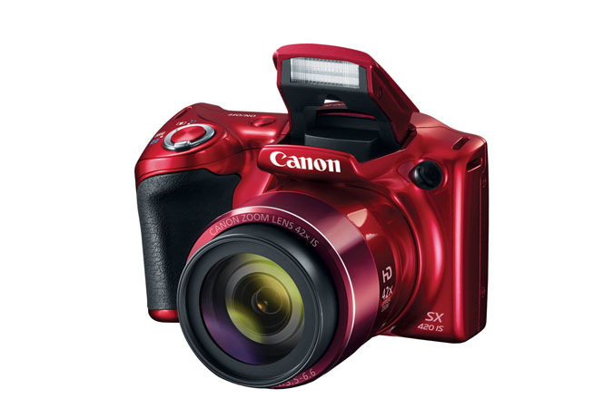 Canon PowerShot SX420 IS Digital Camera Flash Open