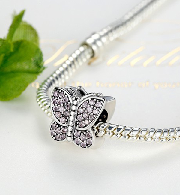 Buy Crystal Butterfly Charm Bead