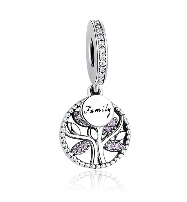 Buy Pink Family Tree Charm