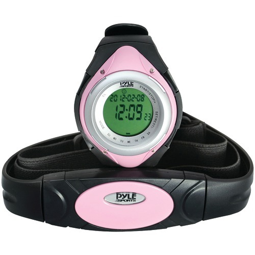 Pyle Heart Rate Monitor Watch With Minimum, Average & Maximum Heart Rate (pink)