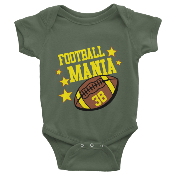 Football Mania Short Sleeve Baby esies