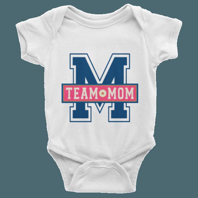 565c75501 Team Mom Short Sleeve Baby Onesies