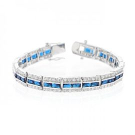 Balboa Blue White Gold Bracelet