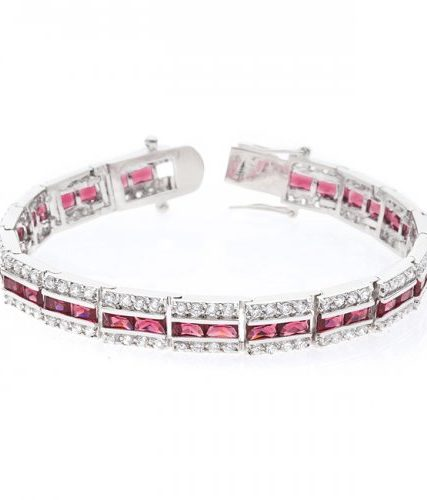 Balboa Red White Gold Bracelet