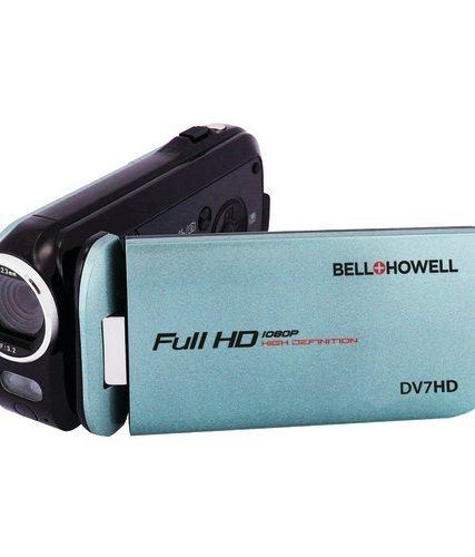 Bell+howell 16.0 Megapixel Slice Ii Dv7hd Ultraslim 1080p Hd Camcorder (blue)