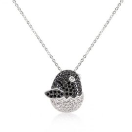 Black And White Baby Bird Pendant