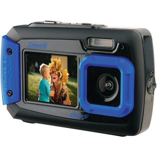 Coleman 20.0 Megapixel Duo2 Dual-screen Waterproof Digital Camera (blue)