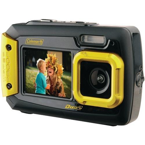 Coleman 20.0 Megapixel Duo2 Dual-screen Waterproof Digital Camera (yellow)