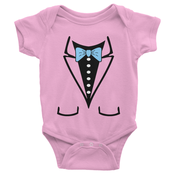 release date: 2f0ce d5197 Bow Tie Short Sleeve Baby Onesies