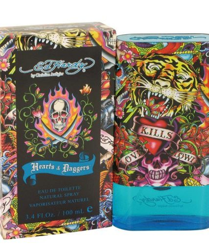 Ed Hardy Hearts And Daggers By Christian Audigier Eau De Toilette Spray 3.4 Oz