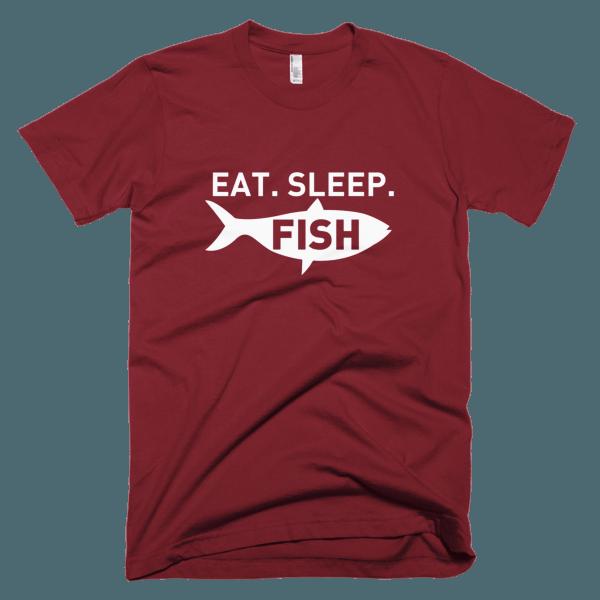 Eat Sleep Fish - Fishing Tee Shirts