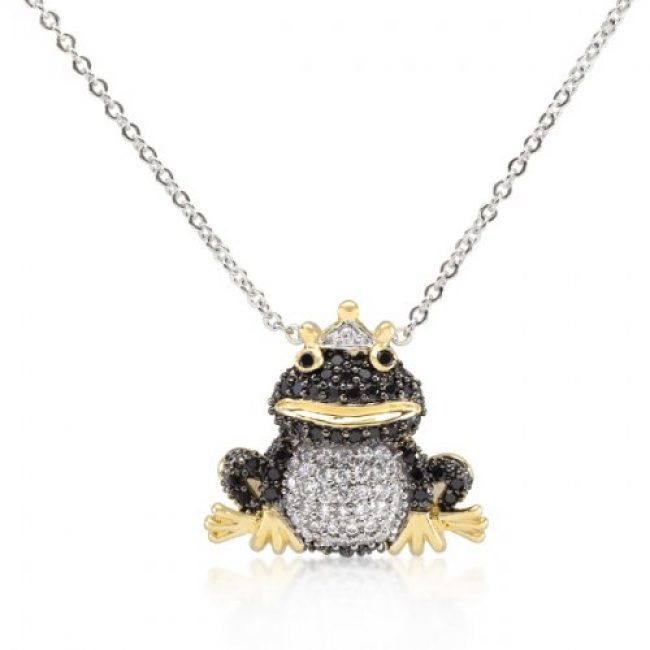 Frog Prince Pendant Necklace