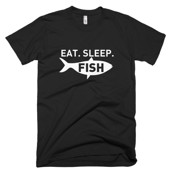 Eat Sleep Fish - Funny Fishing T Shirts