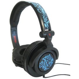 Maxell Amplified Heavy Bass Headphones (tribal Blueglow)