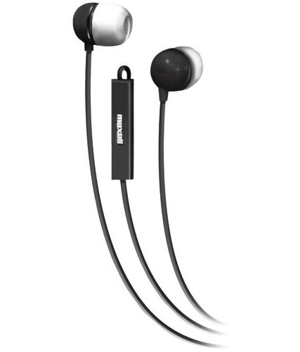 Maxell Stereo In-ear Earbuds With Microphone & Remote (black)