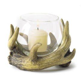 Rustic Antler Candleholder