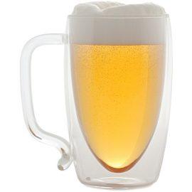 Starfrit 17-ounce Double-wall Glass Beer Mug